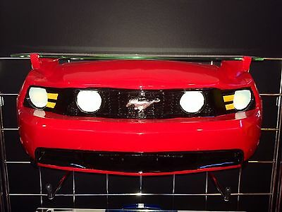 2010 Ford Mustang Resin Wall Shelf, Red