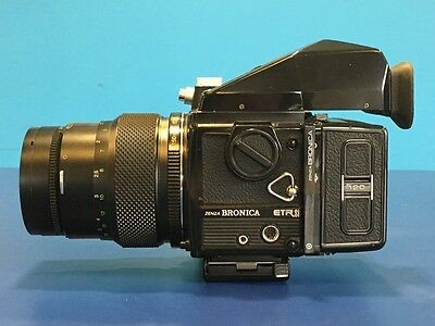 Bronica ETRSi Camera With 150mm f35 Lens, 120 Film Back, Grip & Eye Level Finder