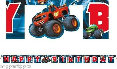 Blaze Monster Machines, Monster Truck Jointed Banner Birthday Party supplies