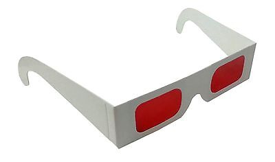 Decoder Glasses for Sweepstakes and Prize Giveaways-Red/Red-White Frame-Pack of