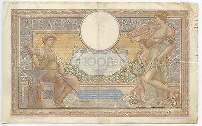 GB540 - Banknote Frankreich 100 Francs 1937 Pick78c RAR France