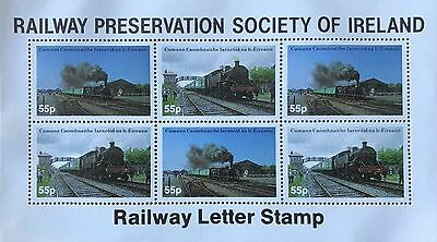 Railway Preservation Society of Ireland Railway Letter Stamps Trains 55p.