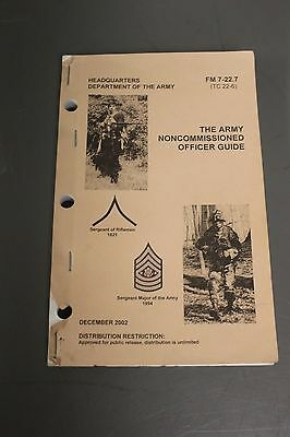 The Army Noncommissioned Officer Guide, Dec 2002, FM 7-22.7