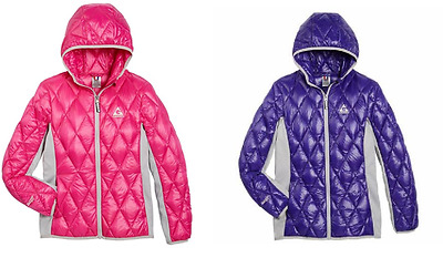 NEW Gerry Girls' Ultra Light Hooded Jacket w/ Knit Side Panels - VARIETY