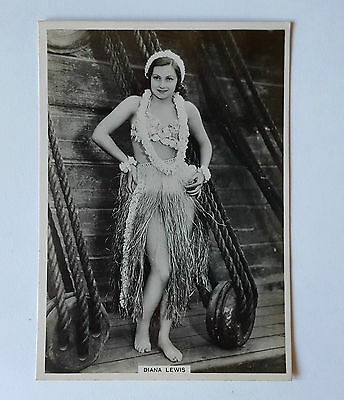 MODERN BEAUTIES 6TH SERIES 1938 - #5 DIANA LEWIS - BAT Cigarette Card