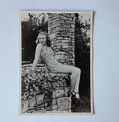 MODERN BEAUTIES 6TH SERIES 1938 - #1 PRISCILLA LANE - BAT Cigarette Cards