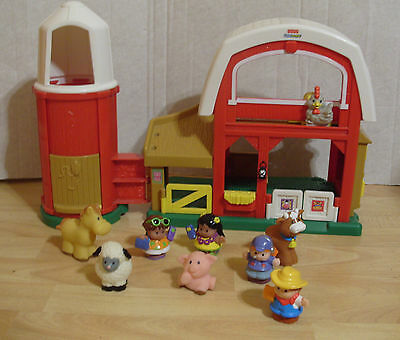 Fisher Price Little People Farm & Animals Figures With Sounds Fisherprice Toy
