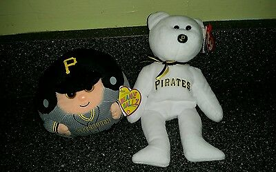TY Pittsburgh Pirates Beanie Bear and Beanie Ballz with tags