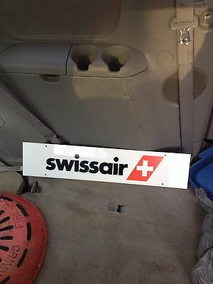 """28"""" 1980's Swissair Airline Sign"""
