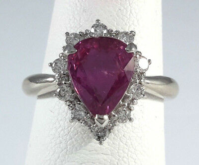 Pretty 3.31ct Pink SAPPHIRE PLATINUM Ring - R9328