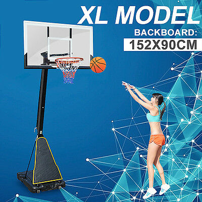 *VIC PICKUP* 60 inch Board Basketball Ring System Adjustable 2.3m-3.05m