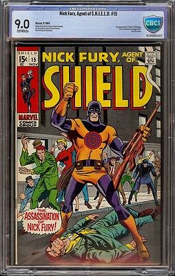 Nick Fury # 15 CBCS 9.0 Off-White (Marvel, 1969) 1st appearance Bullseye