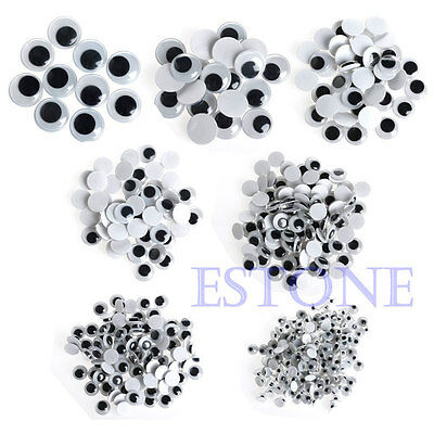 520Pcs Self-adhesive Wiggly Wobbly Googly Eyes Scrapbooking Crafts Mixed 6-20mm