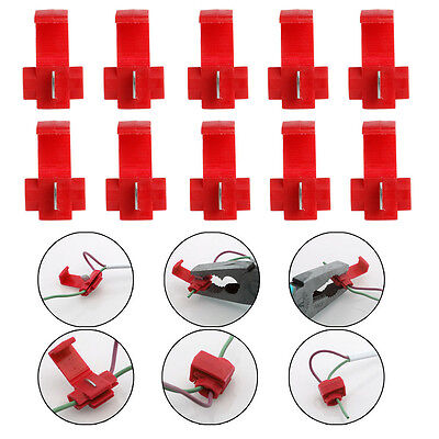 50xMetal+Plastic Electrical Cable Connector Fast Splice Lock Wire Terminal Crimp