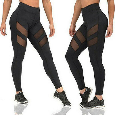 Hot !Women Fashion Running Sport Pants Sexy*Tight Mesh Leggings Stretch Trousers