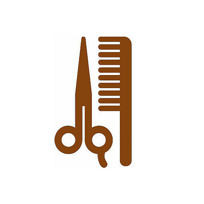 Barber Shop Tools Decor Hair Salon Haircut Window Wall Store Front Decal Sticker