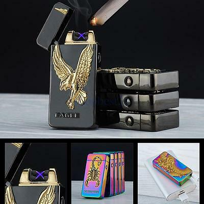 Electric Rechargeable Lighter Dual Arc Flameless Cigarette Windproof Lighter WH