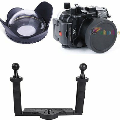 Meikon 40m/130ft Diving Case Fisheye Wide Angle Lens For Canon PowerShot G7X