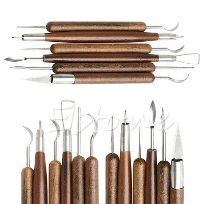 6Pcs Durable Clay Sculpting Wax Carving Pottery Tools Shapers Polymer Modeling
