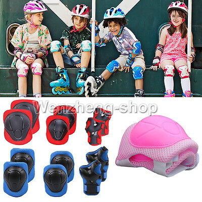 New Kid 6pcs skating protective gear Safety Children Knee Elbow Pads Set Pink FT