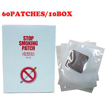 60 Patches QUIT SMOKING PATCH Stop Smoking Anti Smoke Natural Nicotine Patches