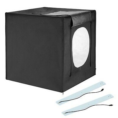 Square Perfect 24 Inch LED Photo Studio In A Box w/4 Color Backdrops Pro Quality