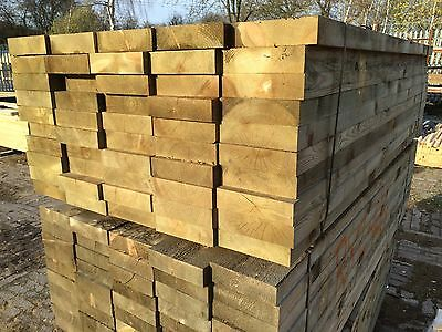 New Sleepers - Tanalised Timbers - 2.4m x 225 x 65mm £10.95 Each!