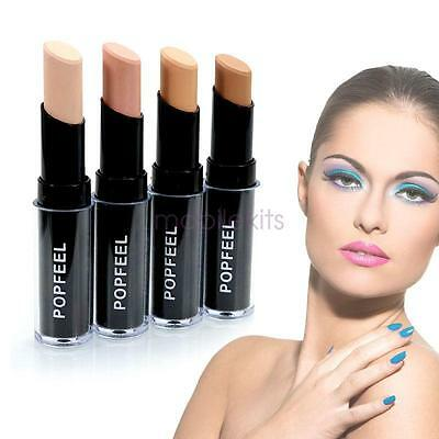 Popfeel Concealer Stick Foundation Stick Concealer Makeup Base Natural 4 Colors