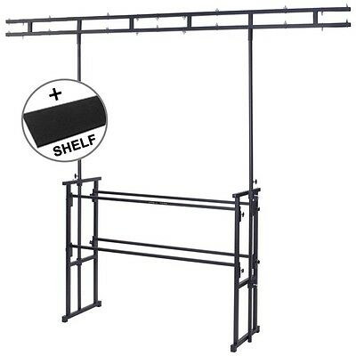 Gorilla GDS-5 4ft Disco DJ Stand Booth Twin-Bar Lighting Rig Inc Carpet Shelf