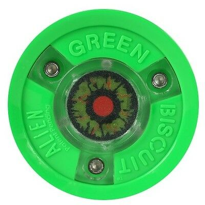 Green Biscuit Ice Hockey Training Puck - Alien Light Up