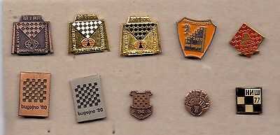 Ten Different Pins Chess Clubs, Tournaments, Competitions, Yugoslavian Edition