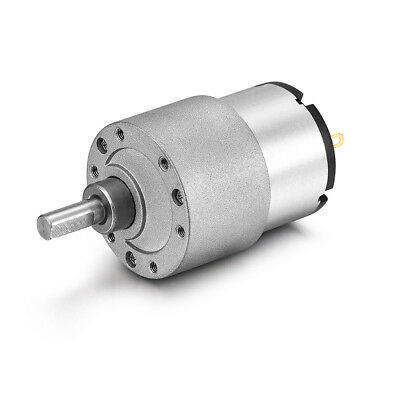 DC 12V 600RPM 6mm Diameter Shaft Electric Geared Box Speed Reduction Motor