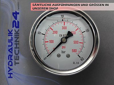 Hydraulic Manometer Glycerin Stainless Steel Eco-Line 0-40 BAR