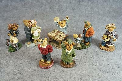 Boyds Bears & Friends The Bearstone Collection Set Of 7 Figurines