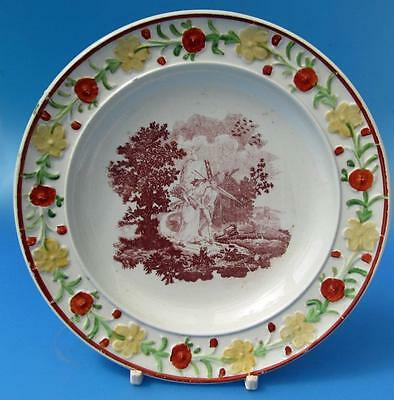 Antique Pearlware Plate Transfer Printed  19C Early English Pottery