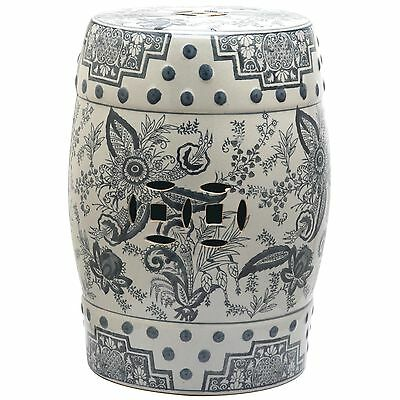 Safavieh Pagoda Blue And White Painting Garden Stool Garden Accents Outdoor