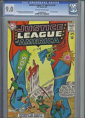 JUSTICE LEAGUE OF AMERICA #18 CGC VF/NM 9.0; OW-W; letter from Roy Thomas!