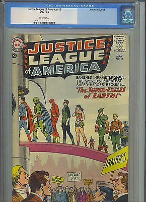 JUSTICE LEAGUE OF AMERICA #19 CGC VF- 7.5; OW; The Super-Exiles of Earth!