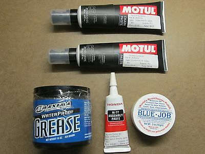 Motorcycle Chain Lube Grease Assembly Paste Honda BlueJob