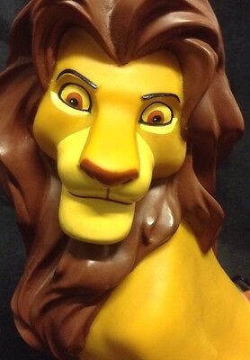 Vintage Disney Lion King Adult Simba With Timon & Pumbaa Rubber Coin Banks