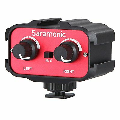 Saramonic SR-AX100 Universal Mic Audio Adapter for DSLR Cameras & Camcorder Mic
