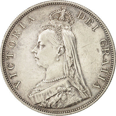 [#460023] Great Britain, Victoria, Double Florin, 1887, Silver, KM:763