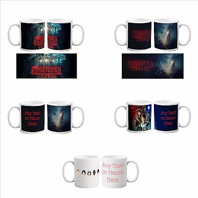 Personalised Stranger Things COLOURED Mug Tea Coffee Cup Valentine's Gift Name