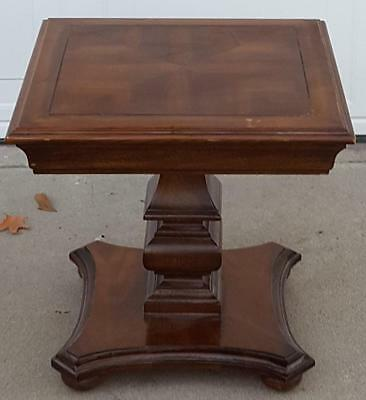 Great Vintage Solid Wood Accent Table - Cherry Veneer Finish - GORGEOUS - VGC
