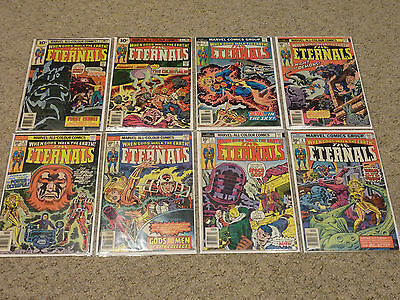 The Eternals #1-19 (1976) | Complete Vol 1 by Jack Kirby | 1st Prints | Marvel