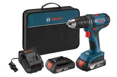18 Volt Lithium Ion 1.2 Inch Compact Drill Driver Kit 2 Batteries Charger Bag