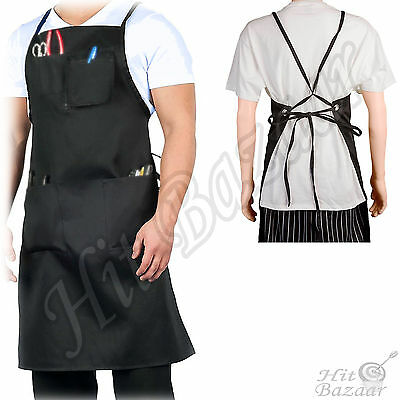 Shop Apron Multiple Sized Patch Style Pockets Chest Tools Polyester Body Work