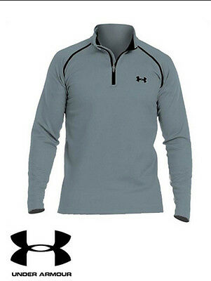 Under Armour Coldgear Infrared Thermo Golf Zip Mens Base Layer Top Steel Grey