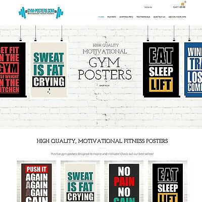 Gym-Posters.com - Website Internet Business For Sale Posters Design Fitness Gym