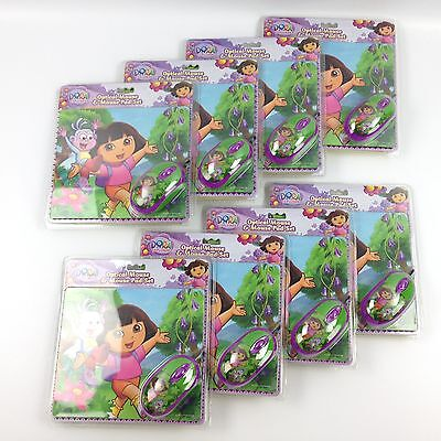 Lot of 8 Nickelodeon Dora The Explorer Optical Mouse & Mouse Pad Sets